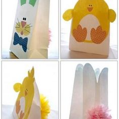 Bunny and chick easter bag tutorial