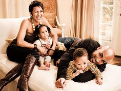 This much good-looking shouldn't be allowed in one family! #NicoleAriParker #BorisKodjoe