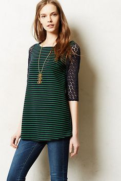 Foreststripe Tunic  #anthropologie