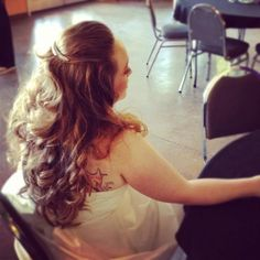 Curly long wedding hair