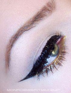 Black Glitter Liner & Mettalic Gold