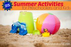 25 Summer Activities for Preschoolers and Kids