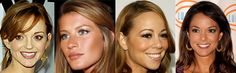 Jayma Mays is Warm Autumn, Gisele Bundchen is Soft Autumn Light, Mariah Carey is Soft Autumn Deep, Eva Larue is Deep Autumn