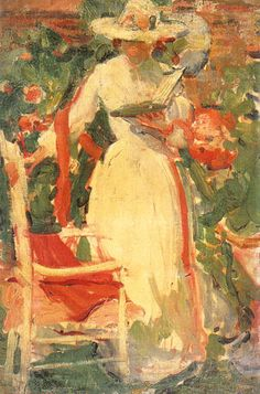 """Woman Reading in the Garden"""