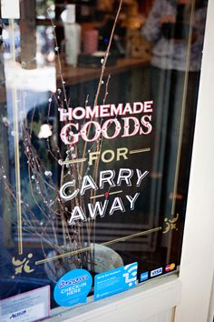 Nice hand-painted lettering for a shop window