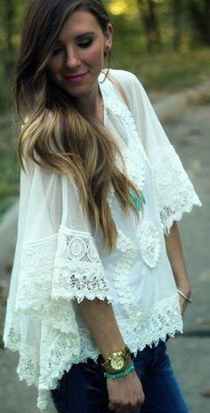 #jasmine #lace #poncho by Cella Jane