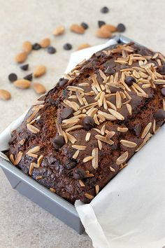 Almond Butter Chocolate Chip Banana Bread #recipe from @fabtasticeats