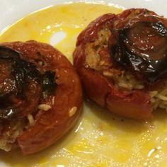 Tomatos stuffed with rice italian recipe - Pomodori ripieni di riso alla romana - PeperonciniPiccanti.com