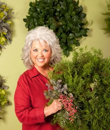Paula Dean Christmas recipes and decorating.