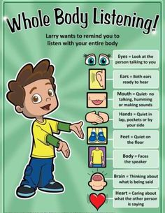 Whole Body Listening: Great with Whole Body Listening Larry Books. Join us: http://www.facebook.com/WholeBodyListeningLarry
