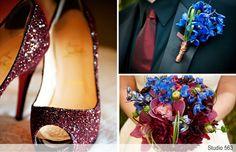 jewel tones  #jeweltonewedding