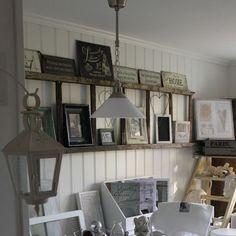 craft, potted plants, vintage, wall decorations, ladders, shelves, ladder decor, display, decor idea