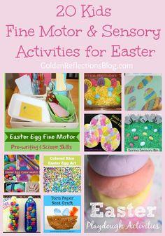 20 Fine Motor & Sensory Kids Activities for Easter