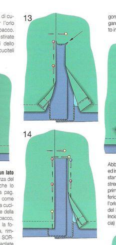 Attaching lining to a vent - Burda