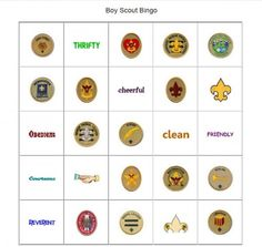 Boy Scout Bingo. Prepares Webelos to earn the Webelos badge, Arrow of Light and teaches them more about becoming a Boy Scout.