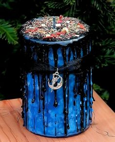 Magick of Midnight - Ritual Pillar Candle - pagan wiccan witchcraft magick ritual supplies