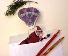 Retro Christmas Card Printable PDF Santa Hot by ArtistInLALALand, $4.00