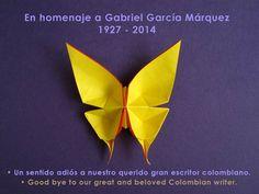Mariposas amarillas en homenaje a Gabriel García Márquez