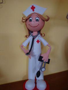 fun foam nurse/doctor dolls...photos