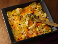 Loaded Twice-Baked Potato Casserole - All the twice-baked potato flavor without all the work. Refrigerated potato slices are used instead of uncooked baking potatoes, and our three cheese cooking sauce makes them creamy good. Oh so easy, oh so delish.