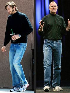 Check out Ashton Kutcher in character as Steve Jobs on the set of the new indie biopic. http://www.people.com/people/article/0,,20595367,00.html