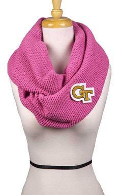"Georgia Tech Bright Pink ""GT"" Scarf"