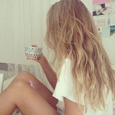 Beach wavy boho hair