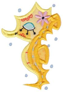 Decorative Sea Creatures Too Applique at Bunnycup Embroidery at http://www.bunnycup.com/embroidery/design/DecorativeSeaCreaturesTooApplique