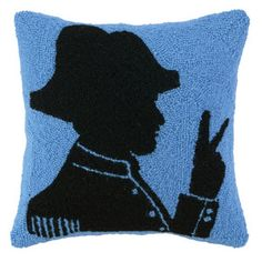 Napoleon Pillow 16x16, $35, now featured on Fab.