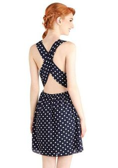 Spontaneously Styled Dress #polkadots