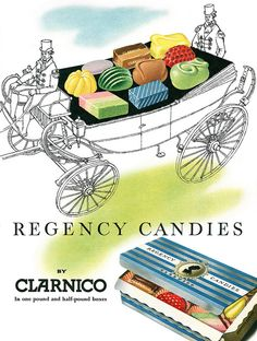 Clarnico Regency Candies ad, 1957