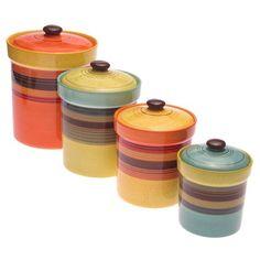 kitchens, breakfast nooks, canist set, colors, piec assort, intern sedona, piec sedona, certifi intern, canisters