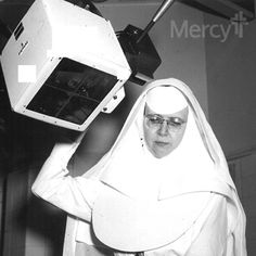 Hold your breath and stand still! This Sister of Mercy is using a 1960s X-ray! #throwbackthursday #tbt