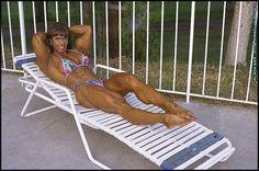 Female Bodybuilder Denise Hoshor posing her lovely muscles for WPWMAX!