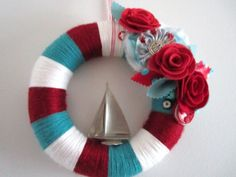 yarn & nautical wreath