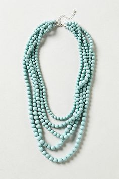 Seabreeze Beaded Necklace #anthropologie