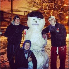 Snow, snowman, new roomate. photo by IIT student Jefferson West   www.iit.edu