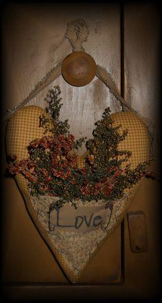 Country Primitive Heart Hanger