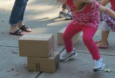 Stack the Box Relay Race by Teach Preschool
