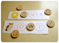 Moveable alphabet and cards