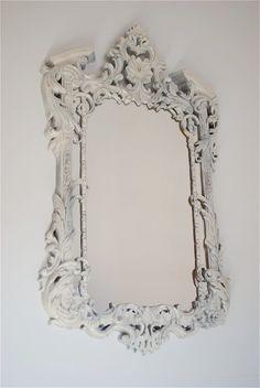 vintage mirror, mirror