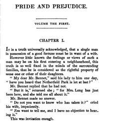 Pride & Prejudice, by Jane Austen