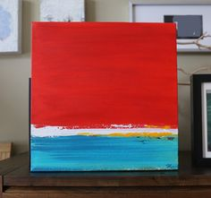 small Abstract painting ORIGINAL painting Acrylic Painting red painting on canvas,wall art,canvas art  interior design