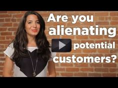 Click play to find out if you're alienating potential customers in your #business. For more amazing advice, come to www.marieforleo.com and sign up for free videos!