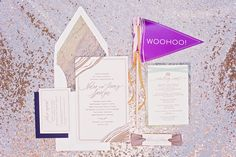 party wedding invitations, photo by Magen Davis http://ruffledblog.com/notwedding-birmingham #weddinginvitations #stationery