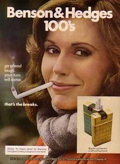 Benson & Hedges Cigarettes – Go ahead and laugh. (1976)