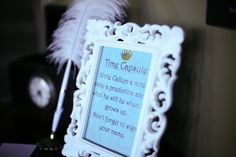 Love the idea of a time capsule with messages from guests at first birthday! #kidsparty #firstbirthday