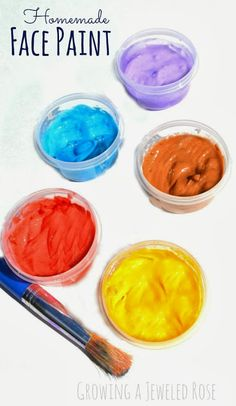 Easy peasy homemade face paint recipe- only 3 ingredients!