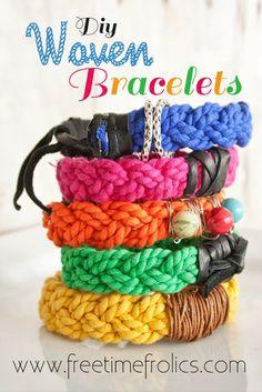 DIY Woven Bracelets via Free Time Frolics #bracelet #diy