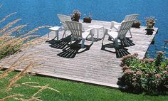 Deck over water